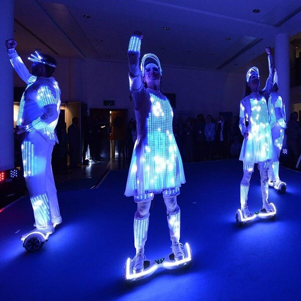 LED Hoverboard Dance Act (Speed)