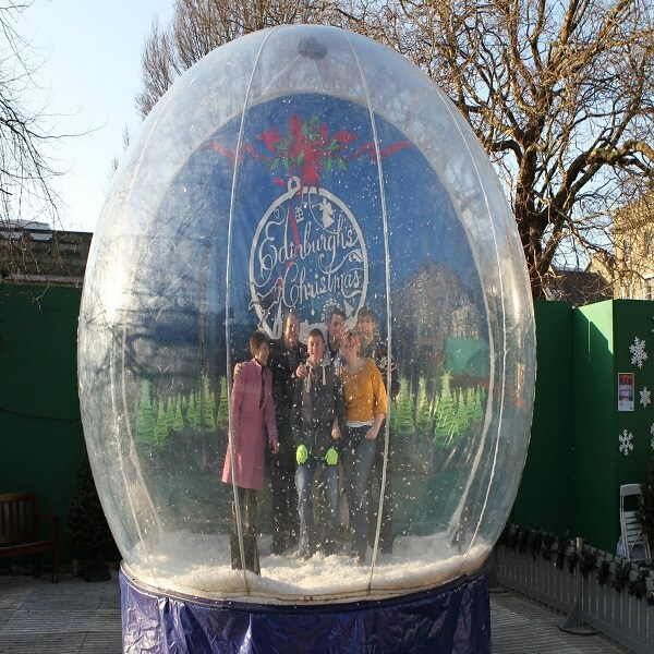 Giant Snow Globe Photo Booth