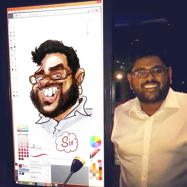 Caricaturist / Digital iPad Cartoon Artist