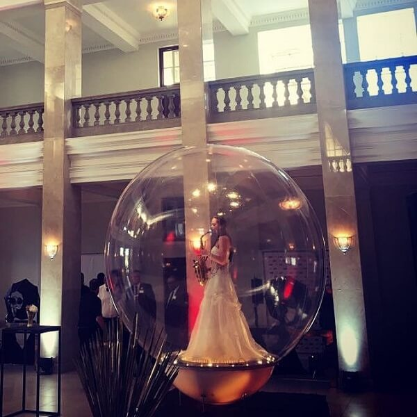 Musician in a Bubble (Electric Cello, Electric Violin, Harp, Saxophone)