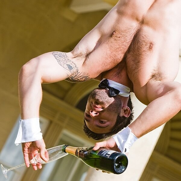 Aerial Champagne Bartenders