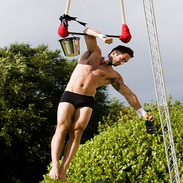 Aerial Champagne Male Bartenders