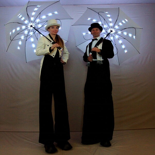 LED Umbrella Stilt Walkers