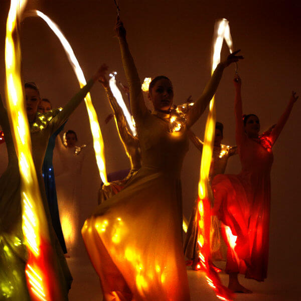 Illuminated LED Ribbon Dancers