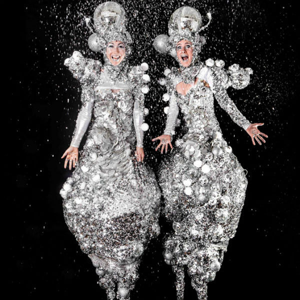 Stilt Walkers (Mirror Balls)