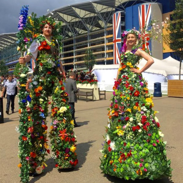 Stilt Walkers (Human Flowers)