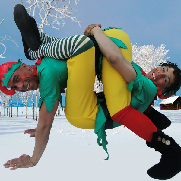Acrobatic Christmas Elves