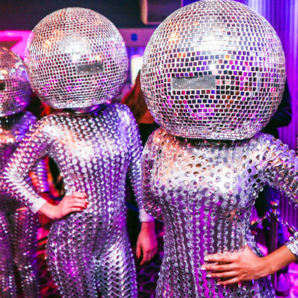 The Dancing Mirror Balls