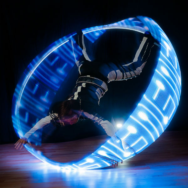 LED Cyr Wheel Act (Nero)