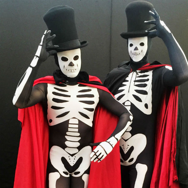 Dancing Mime Skeletons & Vampire Stilt Walkers