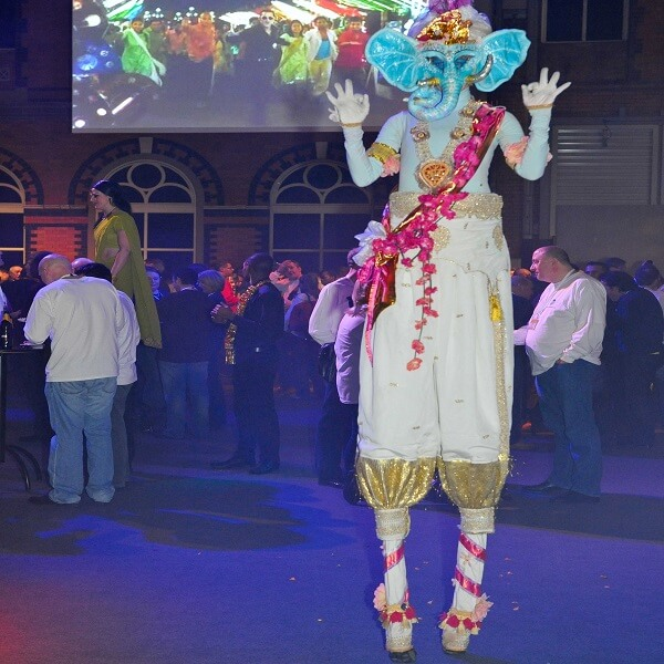 Bollywood Stilt Walkers
