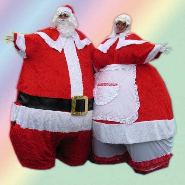 Christmas Themed Stilt Walkers